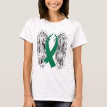 Winged Awareness Ribbon (Green) T-Shirt