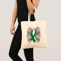 Winged Awareness Ribbon (Green) Tote Bag