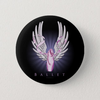 Winged Ballet (Dance) Pinback Button