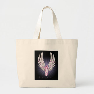 Winged Ballet Large Tote Bag