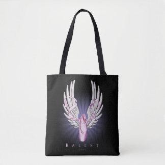 Winged Ballet Tote Bag