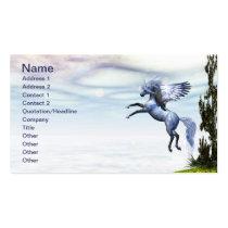 pegasus, wings, flight, fable, horse, magic, fantasy, fairytale, creature, myth, mythology, stallion, equine, equus, steed, animal, mount, wild, beast, beautiful, beauty, charger, Cartão de visita com design gráfico personalizado