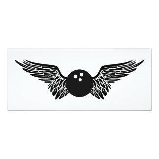 winged bowling ball card