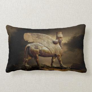 """winged Bull """"Lamassu"""" pillow"""