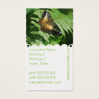 Winged Butterfly Business Card