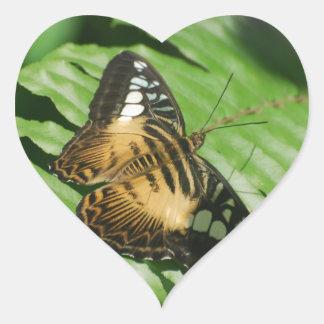 Winged Butterfly Heart Sticker