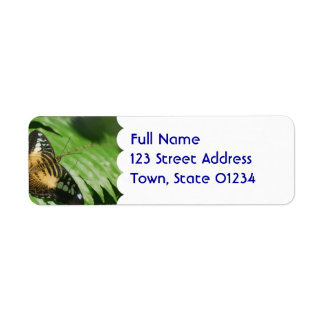Winged Butterfly Label