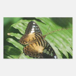 Winged Butterfly Rectangular Sticker