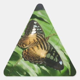 Winged Butterfly Triangle Sticker