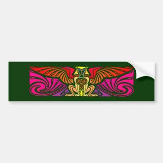 winged cat Bastet sphinx winged cat Bumper Sticker