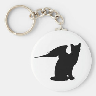 Winged Cat Keychain
