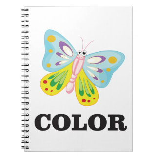 winged color bf spiral notebook