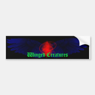 Winged Creatures Bumper Sticker