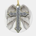 Winged Cross Ornament