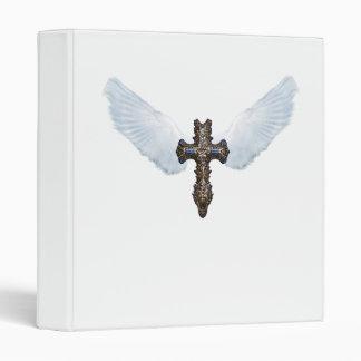 Winged Cross (white)  Avery Binder