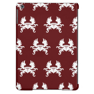 Winged Crown Crest White Red iPad Air Case