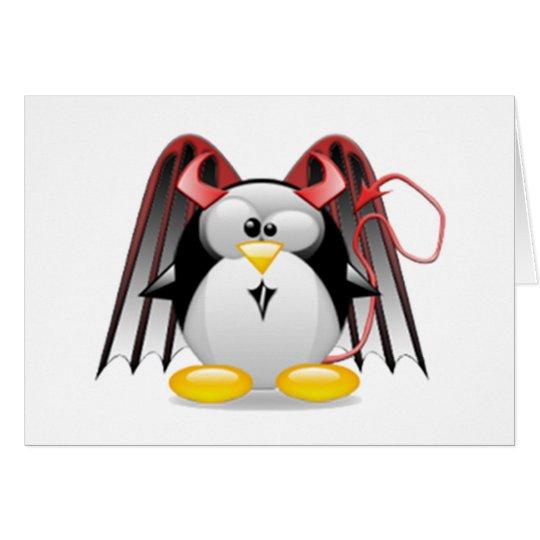 Winged Devil Tux Card