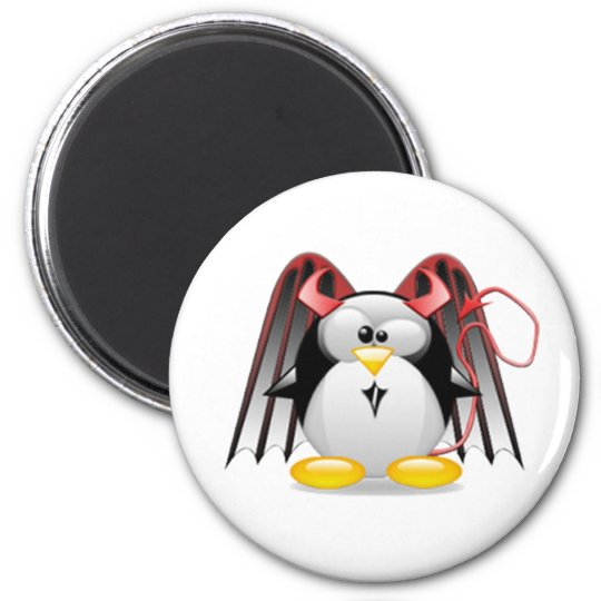 Winged Devil Tux Magnet