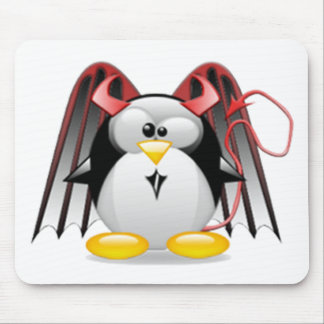 Winged Devil Tux Mouse Pad
