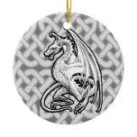 Winged Dragon Ceramic Ornament