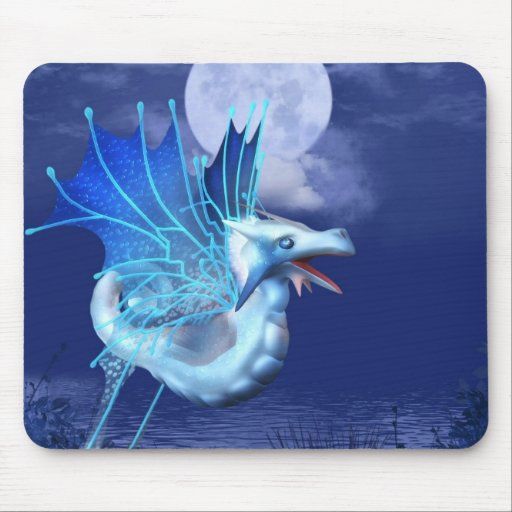 Winged Dragon in Flight Mouse Pad