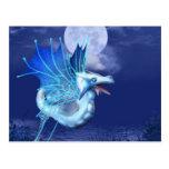 Winged Dragon in Flight Postcard