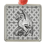 Winged Dragon Metal Ornament