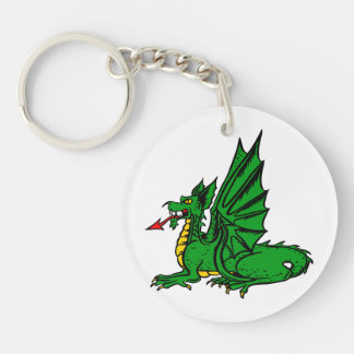 Winged dragon red tongue side.png keychain