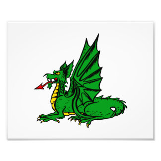 Winged dragon red tongue side.png photographic print