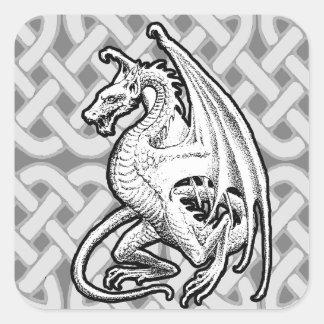 Winged Dragon Square Sticker