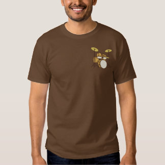 Winged Drum Set Embroidered T-Shirt