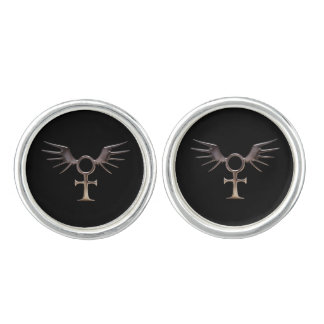 Winged Egyptian Ankh Cufflinks
