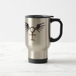 Winged Egyptian Ankh Travel Mug