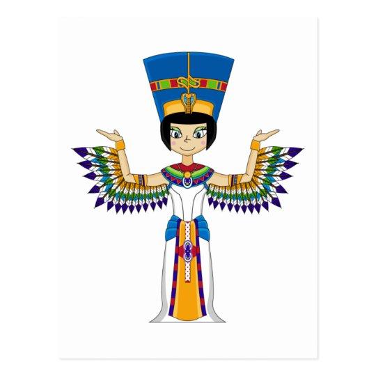 Winged Egyptian Queen Nefertiti Postcard