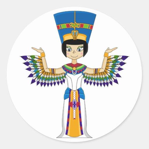 Winged Egyptian Queen Nefertiti Sticker