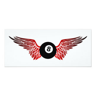 winged eightball card
