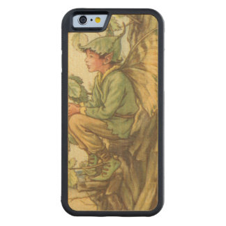Winged Elm Fairy Sitting in a Tree Carved Maple iPhone 6 Bumper Case