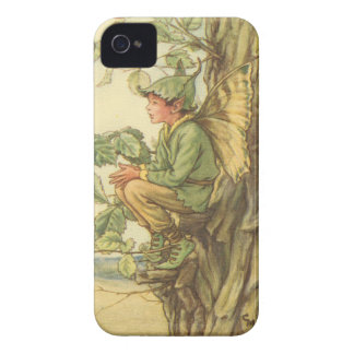Winged Elm Fairy Sitting in a Tree Case-Mate iPhone 4 Case