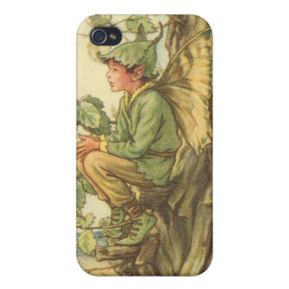Winged Elm Fairy Sitting in a Tree Cases For iPhone 4