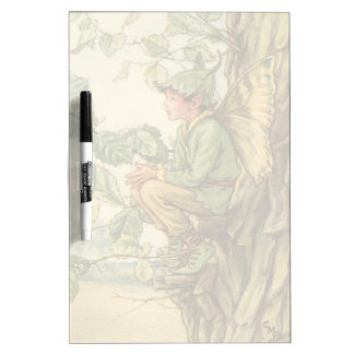 Winged Elm Fairy Sitting in a Tree Dry-Erase Board