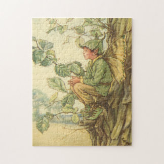 Winged Elm Fairy Sitting in a Tree Jigsaw Puzzle