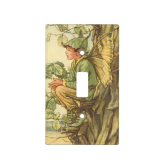 Winged Elm Fairy Sitting in a Tree Light Switch Cover
