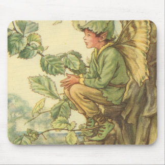 Winged Elm Fairy Sitting in a Tree Mouse Pad