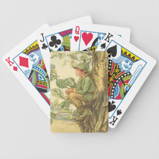 Winged Elm Fairy Sitting in a Tree Bicycle Playing Cards