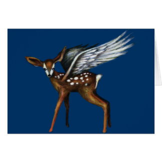 Winged Fawn Card