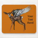 Winged Fawn Mouse Pad