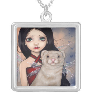 Winged Ferret NECKLACE fairy ferrets