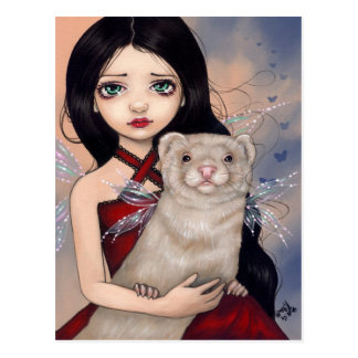 """Winged Ferret"" Postcard"