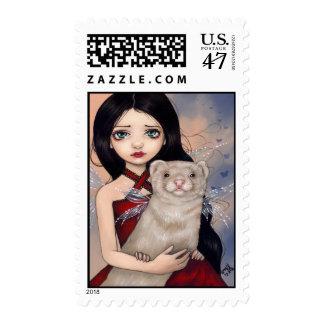 """Winged Ferret"" Stamp"