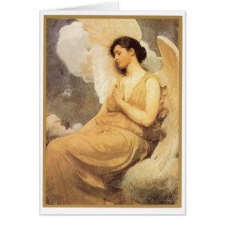 Winged Figure - Christmas Card